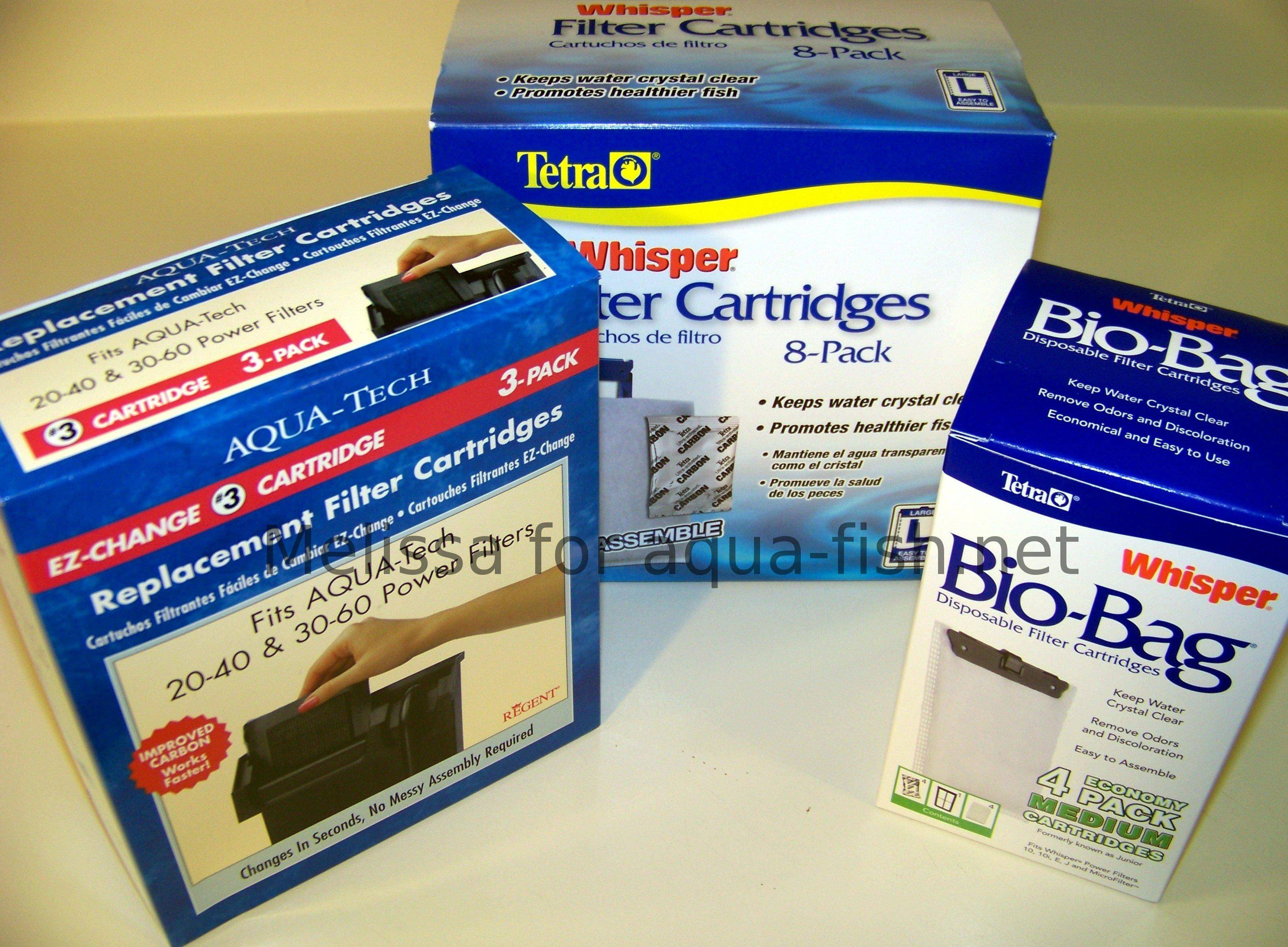 Types of aquarium filter cartridges Types of aquarium filters